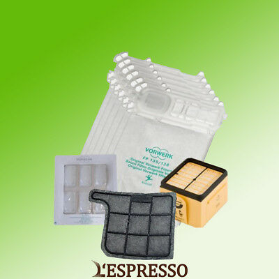 Folletto VK 135 136 6 sacchetti 6 profumi 1 filtro griglia adattabile
