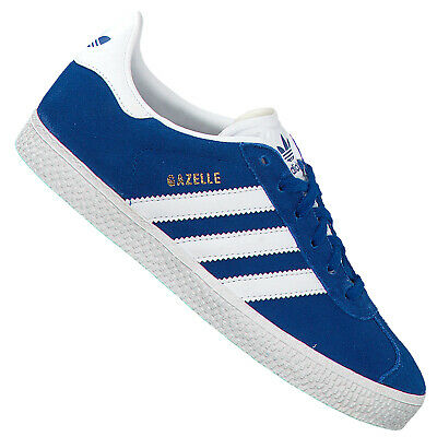 Details zu adidas Originals Gazelle Kinder Sneaker Leder Schuhe Turnschuhe CQ2924 Blau Weiß