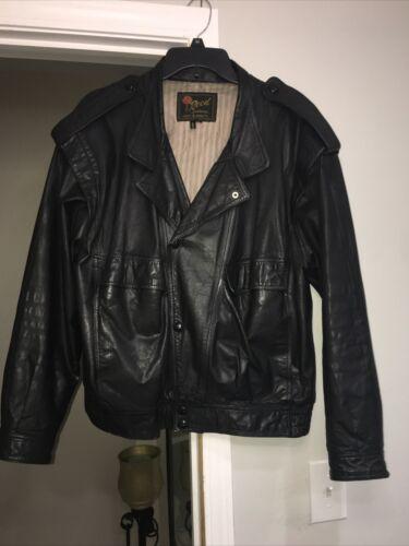 Vintage Reed Sportswear Mens Genuine Leather Jacke