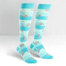 Sock It To Me Women's Funky Knee High Socks - Unicorn of the Sea