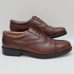 Details zu Clarks Oxford Brown Leather Shoes Formal Casual UK Size 9 Extra Wide