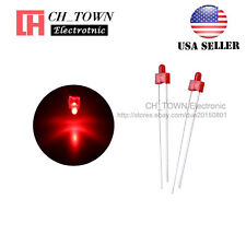 100pcs 2mm Diffused LED Diodes Red Color Red Light DIP Round Top USA