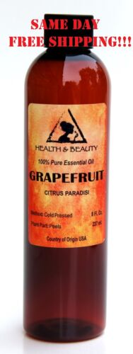 GRAPEFRUIT ESSENTIAL OIL by H&B Oils Center AROMATHERAPY 100% PURE 8 OZ