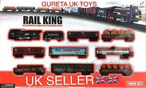 Classical Toy Train Set With Light Assembled Track Set Battery Operated