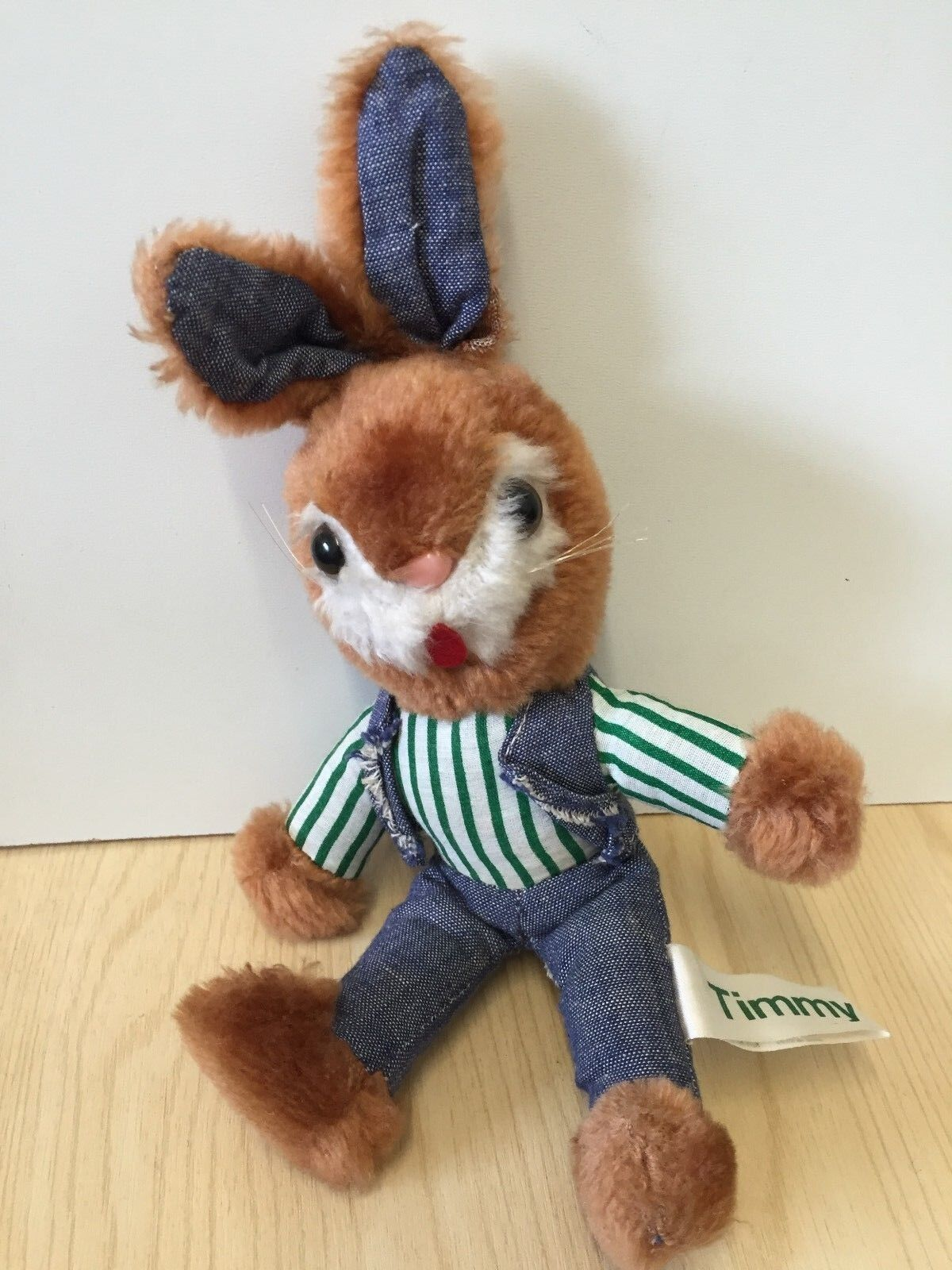 RARE Vintage Russ 1980 Timmy Rabbit Soft Plush Toy 25cm Item No. 203