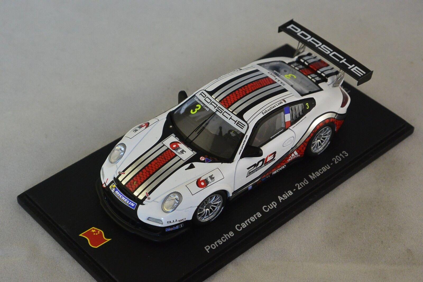 Spark SA042 - PORSCHE 997 GT3 Cup n°3 Carrera Cup Macau 2013 S. Loeb 1 43