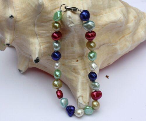 B24 echt Süßwasser Perlen Schmuck Perlenarmbänder Armschmuck Armbänder Collier