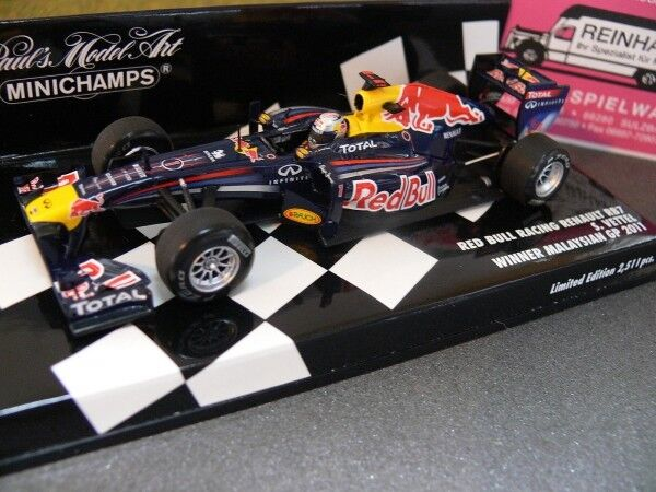 1 43 Minichamps rouge Bull Racing Renault rb7 MALAYSIAN GP 2011 S. Ma grosse  1...