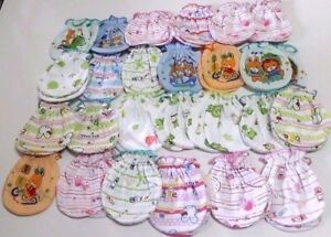 25 Pairs 100% Cotton GLOVES  MITTENS  NEW BORN BABY Care Hand Babies Toddler