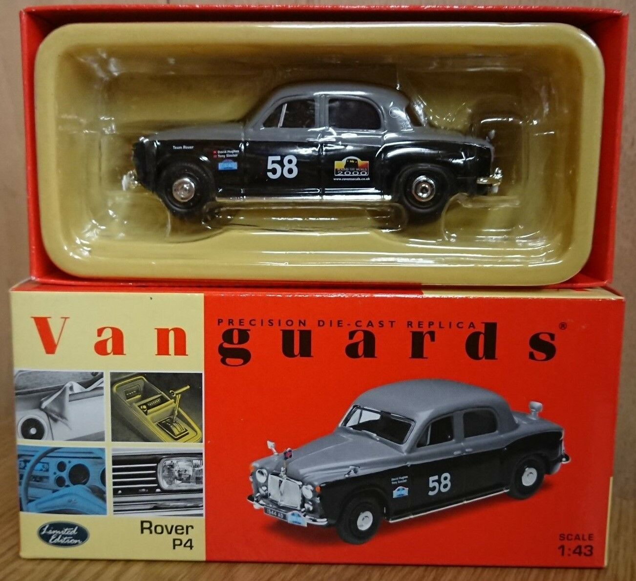 Corgi VA01911 Rover P4 No.58 Round the World Rally Ltd Edition No. 3455 of 4000