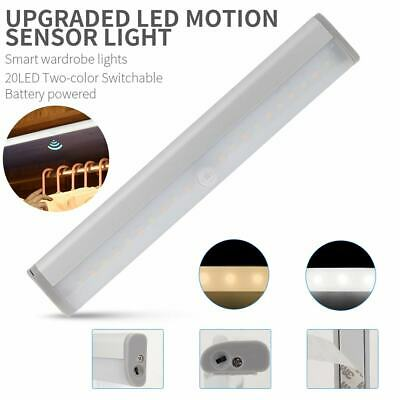 30 LED Motion Sensor Closet Night Light Under Cabinet Rechargeable Lamp USB E9W4
