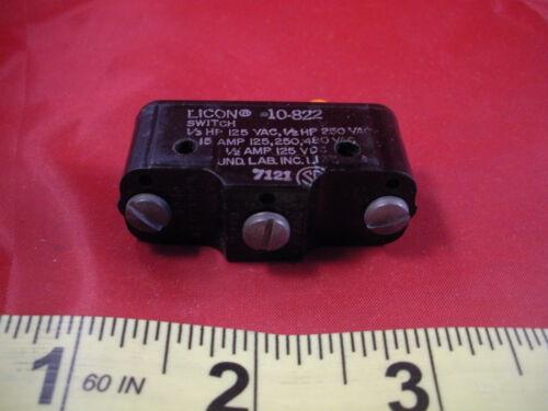 Licon 10-822 Limit Switch 10822 1//3hp 125 vac 1//2hp 250vac 15a 125//250//480v ac