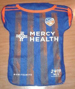 meet 496b7 09aec Details about FC Cincinnati 2019 RALLY TOWEL MLS Inaugural Game Season  Mercy Health Jersey