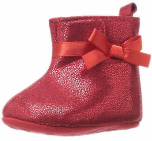 Laura Ashley Baby Shine Shimmer Casual Booties UK 1 JS180 RR 06