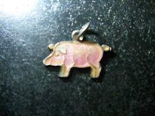 Anhänger-Schwein-Schweinchen-Glück-Bettelarmband-835er-Silber-1920-1950