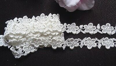 Venise Lace Galloon, 7/8 inch wide ivory color  selling by the yard