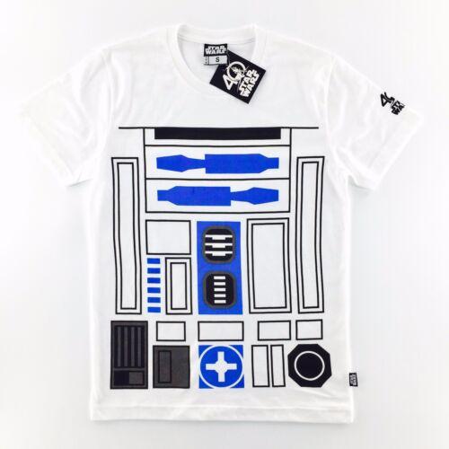 OFFICIAL STAR WARS 40TH ANNIVERSARY R2D2 R2-D2 DROID COSTUME White T-SHIRT