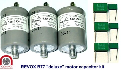 "NEW /""deluxe/"" Motor Capacitor Set for Revox  B77 tape REVOX  B77"