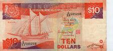 Singapore $10 Banknote