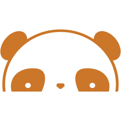 """Panda Peeking 14/"""" Vinyl Decal Car Window Sticker bumper funny cute pandas"""