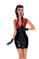 Rubber Latex Divert Dress *Silver/PS Red* £139 Westward Bound 10 UK SECONDS