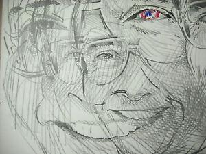 Raymond-Moretti-1931-2005-Yves-Mourousi-Zeichnung-Original-Unterzeichnet-Nizza