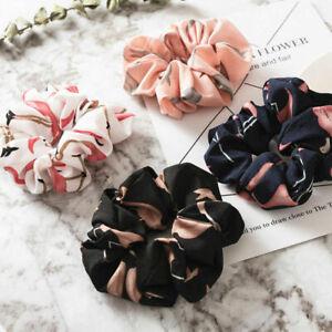 Women-Summer-Hair-Scrunchies-Bun-Ring-Elastic-Flamingos-Sports-Dance-Scrunchy-A8
