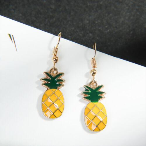 Exquisite Ananas Forme Boucles d/'oreilles Fashion Jewelry Oreille Crochet Charme Boucles d/'oreilles