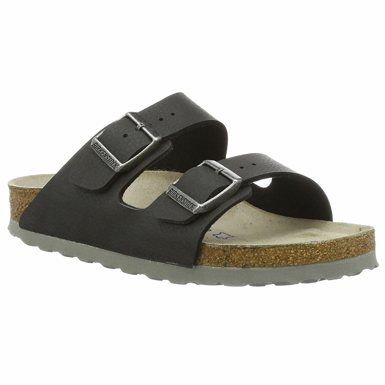 Último gran descuento Birkenstock Arizona Desert Soil Black Womens Birko-Flor Soft Footbed Sandals