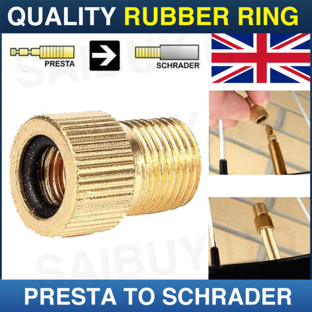 1 x VALVE ADAPTER PRESTA TO SCHRADER CONVERTER ROAD BIKE CYCLE BICYCLE PUMP TUBE