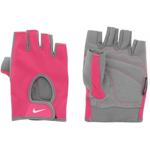 Nike Ladies Fundamental Training Gloves Gym Bike All Sizes Pink Grey S1222