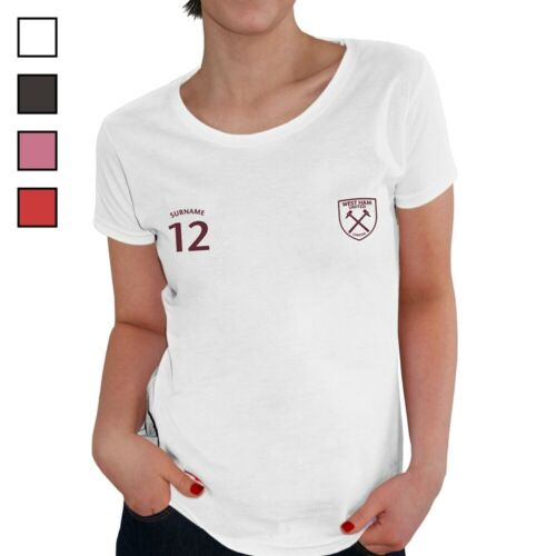 SPORTS Personalised Ladies T-Shirt West Ham United F.C