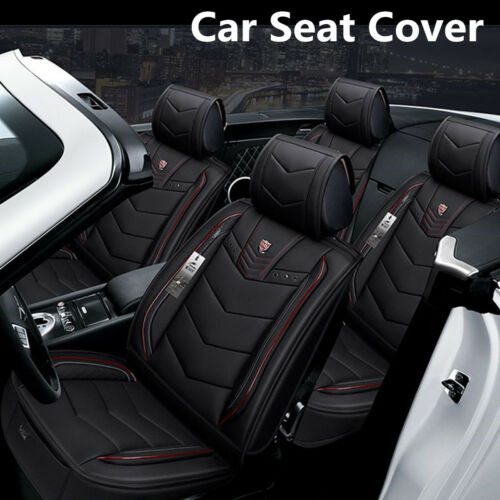 6D 5-Seat Car SUV Seat Cover Seat Cushion Senior Microfiber Leather+Sponge Layer