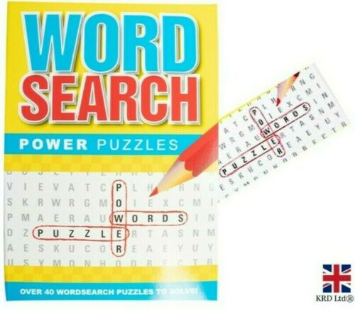 Word Search Power Puzzle Book Kids Adults Quiz Activity Crossword Trivia Game UK