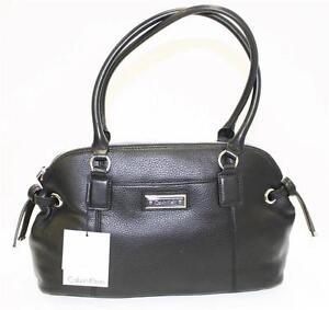cadeaf1356 Image is loading NWT-Calvin-Klein-H3JDA2BW-Handbag-Satchel-Modena-Leather-