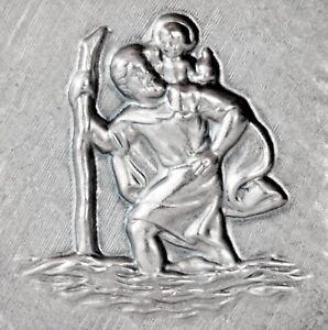 Heiliger St. Sankt Christophorus Relief Plakette Metall Christopherus selbstkl.