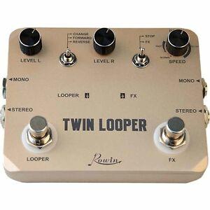original rowin ltl 02 twin looper electric guitar effect pedal loop station ebay. Black Bedroom Furniture Sets. Home Design Ideas