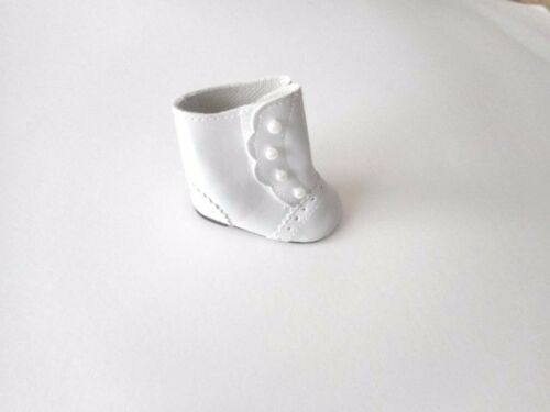 """Doll Clothes 18/"""" Colonial Button Boots White Fits American Girl Dolls"""