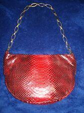 Francesco Biasia Leather Medium Snake Embossed shoulder purse Italy