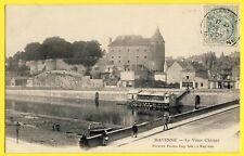 cpa 53 - MAYENNE en 1906 Le Vieux CHÂTEAU CAROLINGIEN Lavoirs Boulangerie JOUSSE