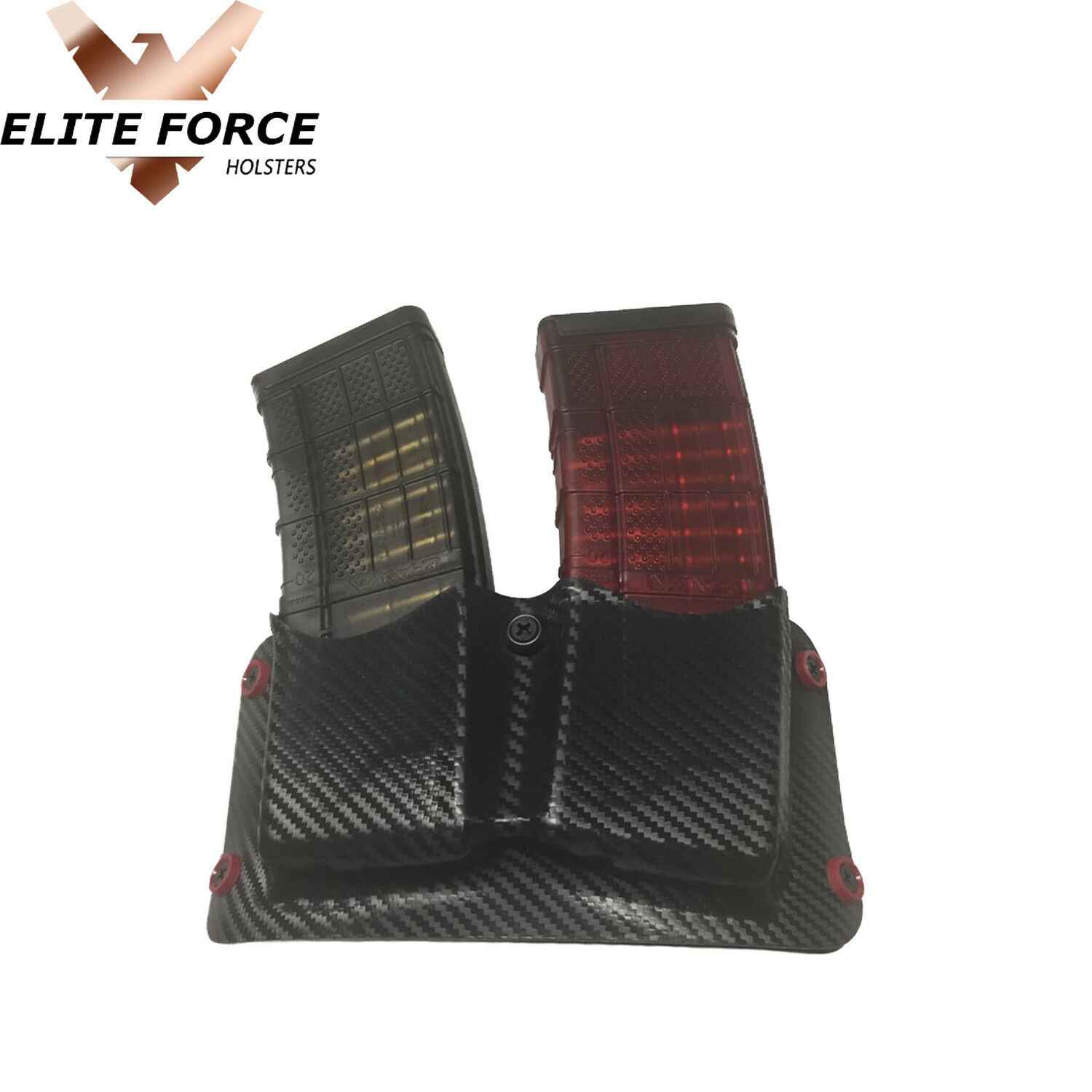 Dual Kydex OWB Holster Fits Lancer L5 Magazines, Double Mag Holster