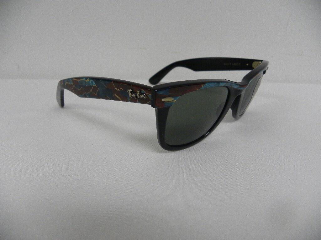 899aa2060c Vintage B l Ray Ban Wayfarer Purple Mosaic Ebony Street Neat W1087 ...