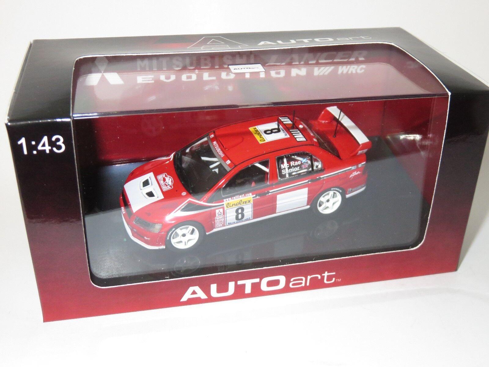 1/43 MITSUBISHI Lancer Evo VII WRC Rallye Monte Carlo 2002 A. McRae | En Qualité Supérieure  | Les Produits De Base Sont