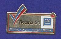 General Motors GM Logo Commonwealth Games 1994 Automobile Car Sponsor Pin z3