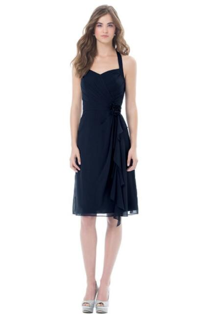Bill Levkoff Bridesmaid Dress 473 Prom Wedding Short Gown Sleeveless V-neckline
