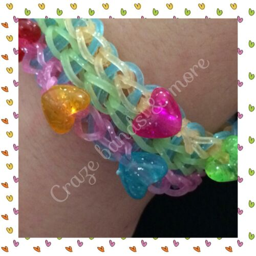 NEW Style Magic Solar UV SUN Change Color RAINBOW Rubber Bands Clear fit LOOM