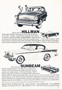 1959-Hillman-and-Sunbeam-Classic-Vintage-Advertisement-Ad-A80-B