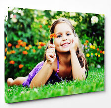 Photo On Canvas Print Your Personalised Picture Any Size - Framed, Ready To Hang