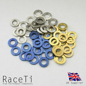 Gold Gr5 Aerospace Titanium Bolt M6x20mm Tapered Head Blue or Natural Finish
