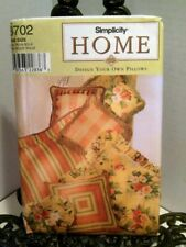 Simplicity 8702 Pillows Design Your Own 25 Different Styles Craft Sewing Pattern